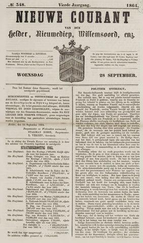 Nieuwe Courant van Den Helder 1864-09-28