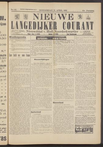 Nieuwe Langedijker Courant 1932-04-14