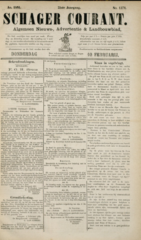 Schager Courant 1881-02-10