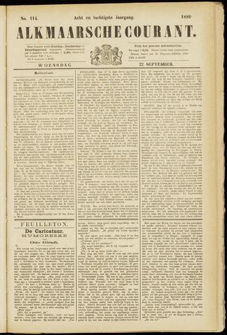 Alkmaarsche Courant 1886-09-22
