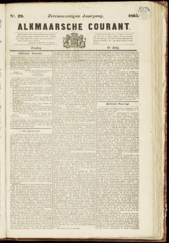 Alkmaarsche Courant 1865-07-16