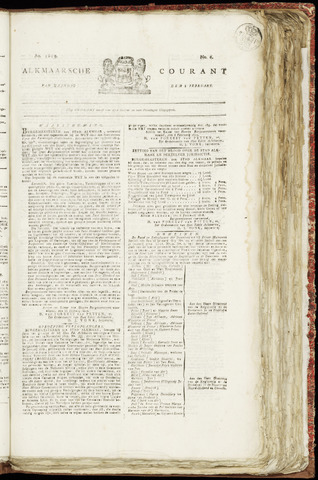 Alkmaarsche Courant 1819-02-08