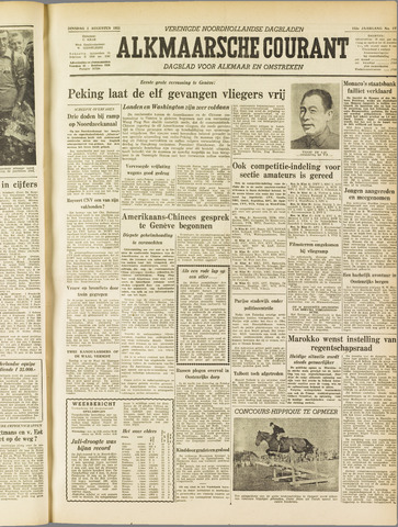 Alkmaarsche Courant 1955-08-02