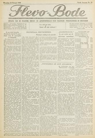 Flevo-bode: nieuwsblad voor Wieringen-Wieringermeer 1949-02-23