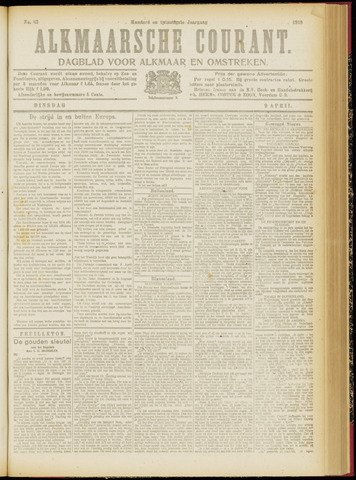 Alkmaarsche Courant 1918-04-09