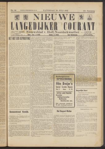 Nieuwe Langedijker Courant 1932-07-30