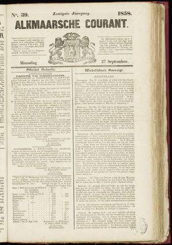 Alkmaarsche Courant 1858-09-27