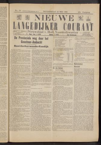 Nieuwe Langedijker Courant 1931-05-21