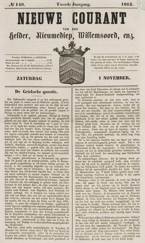 Nieuwe Courant van Den Helder 1862-11-01