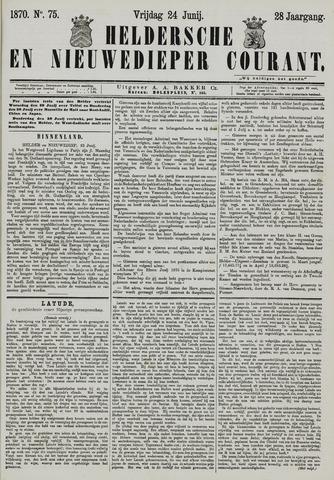 Heldersche en Nieuwedieper Courant 1870-06-24