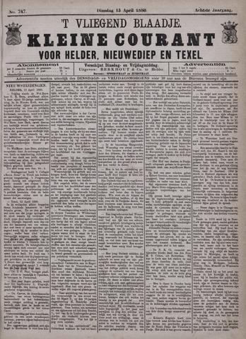 Vliegend blaadje : nieuws- en advertentiebode voor Den Helder 1880-04-13