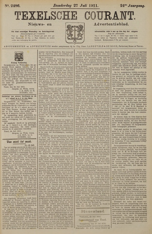Texelsche Courant 1911-07-27
