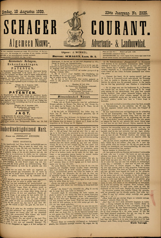 Schager Courant 1889-08-18