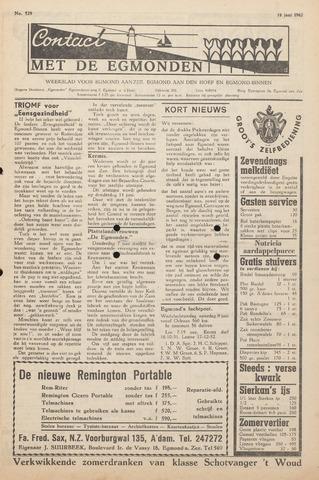 Contact met de Egmonden 1962-06-14