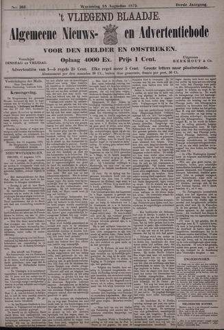 Vliegend blaadje : nieuws- en advertentiebode voor Den Helder 1875-08-18