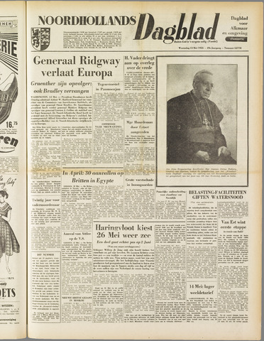 Noordhollands Dagblad : dagblad voor Alkmaar en omgeving 1953-05-13