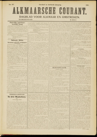 Alkmaarsche Courant 1911-07-06