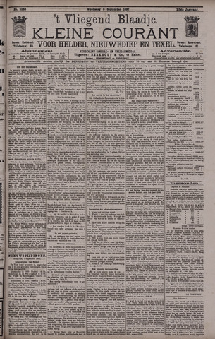Vliegend blaadje : nieuws- en advertentiebode voor Den Helder 1897-09-08