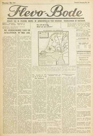Flevo-bode: nieuwsblad voor Wieringen-Wieringermeer 1947-05-07