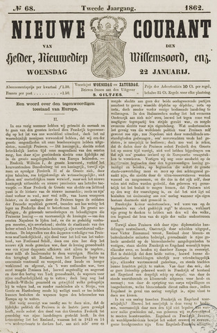 Nieuwe Courant van Den Helder 1862-01-22