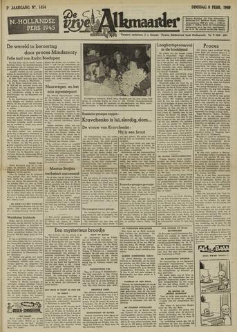 De Vrije Alkmaarder 1949-02-08