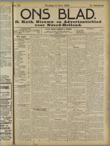 Ons Blad : katholiek nieuwsblad voor N-H 1913-11-11