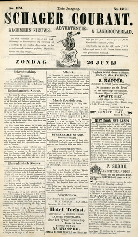 Schager Courant 1881-06-26