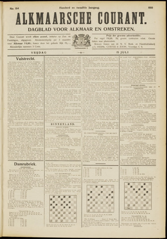 Alkmaarsche Courant 1910-07-15