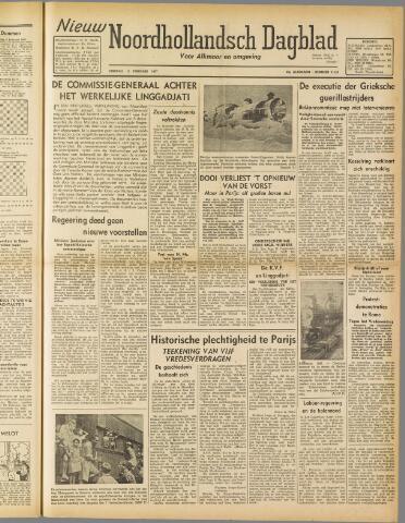 Nieuw Noordhollandsch Dagblad : voor Alkmaar en omgeving 1947-02-11