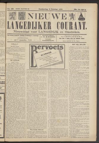 Nieuwe Langedijker Courant 1924-10-09