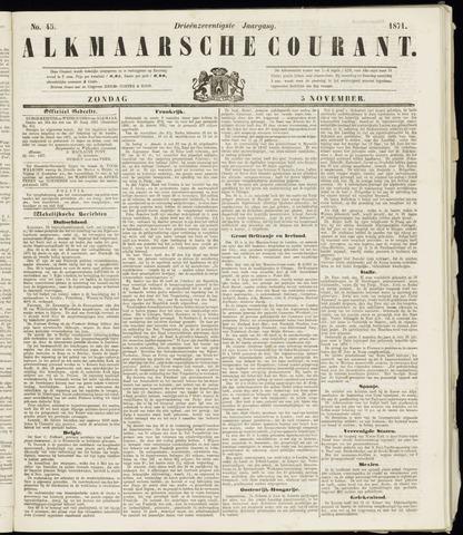 Alkmaarsche Courant 1871-11-05