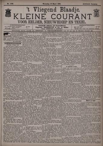 Vliegend blaadje : nieuws- en advertentiebode voor Den Helder 1890-03-19