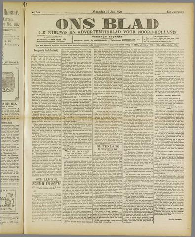 Ons Blad : katholiek nieuwsblad voor N-H 1920-07-19