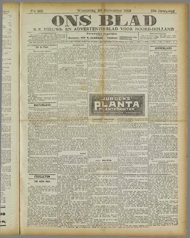 Ons Blad : katholiek nieuwsblad voor N-H 1919-11-26