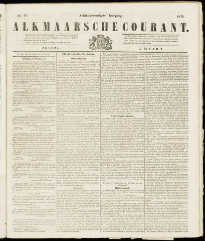 Alkmaarsche Courant 1876-03-05