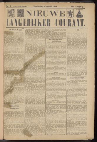 Nieuwe Langedijker Courant 1924-01-03