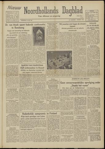 Nieuw Noordhollandsch Dagblad : voor Alkmaar en omgeving 1948-05-27