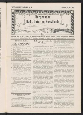 Bergensche bad-, duin- en boschbode 1934-07-21