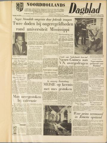 Noordhollands Dagblad : dagblad voor Alkmaar en omgeving 1962-10-01