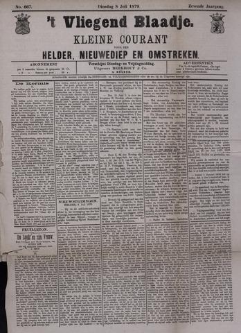 Vliegend blaadje : nieuws- en advertentiebode voor Den Helder 1879-07-08