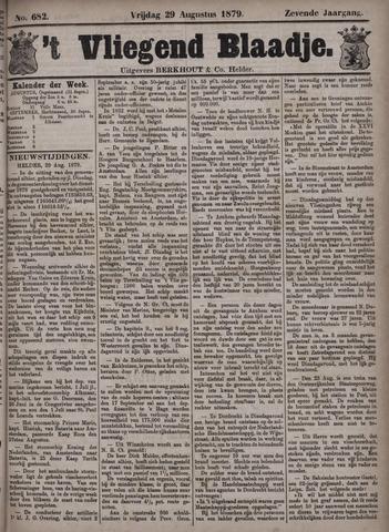 Vliegend blaadje : nieuws- en advertentiebode voor Den Helder 1879-08-29