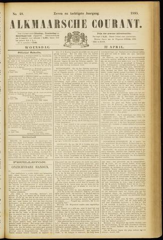 Alkmaarsche Courant 1885-04-22