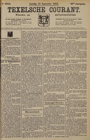 Texelsche Courant 1915-09-19