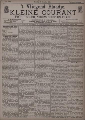 Vliegend blaadje : nieuws- en advertentiebode voor Den Helder 1886-12-11