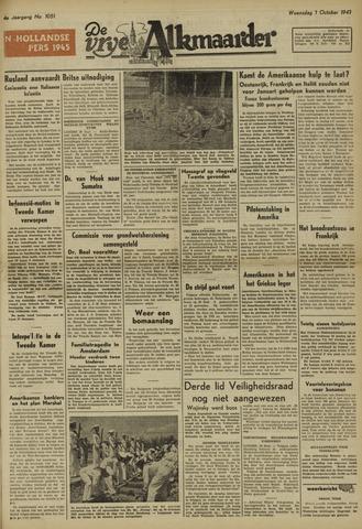 De Vrije Alkmaarder 1947-10-01
