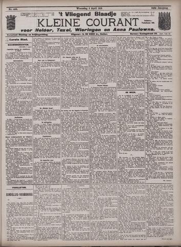 Vliegend blaadje : nieuws- en advertentiebode voor Den Helder 1913-04-09