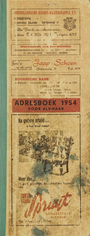 Adresboek van Alkmaar 1954-01-01