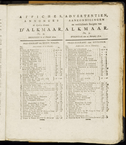 Alkmaarsche Courant 1812-02-26