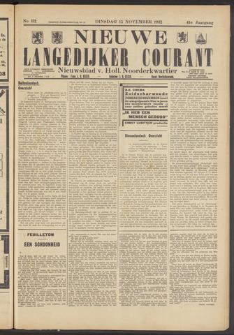 Nieuwe Langedijker Courant 1932-11-15