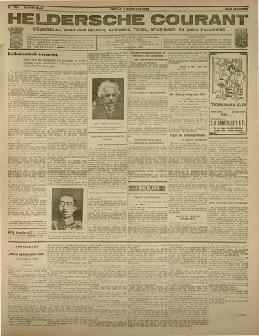 Heldersche Courant 1933-08-08